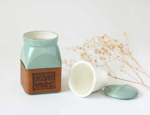 Ceramic Sparrow tea for one