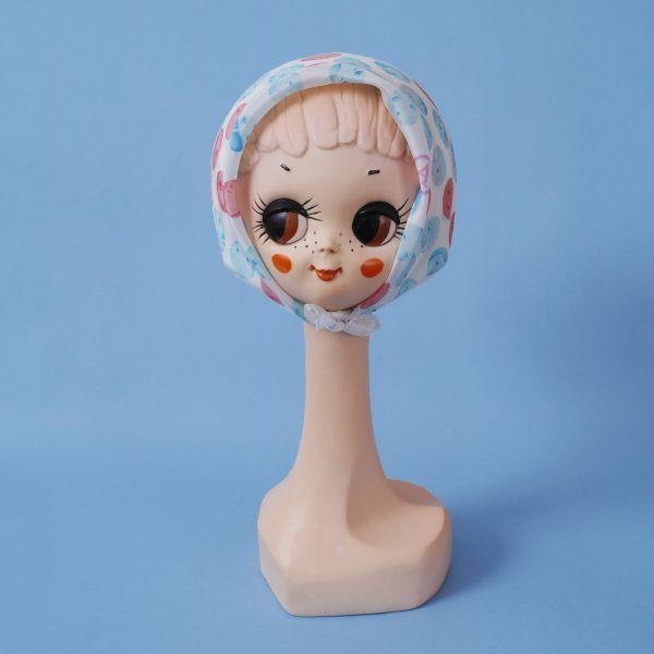 Esarfa Agnes Puppen roz cu bleu 2